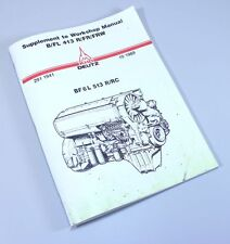 KHD DEUTZ BF6L 513R/RC DIESEL ENGINE SERVICE REPAIR WORKSHOP MANUAL SHOP BOOK