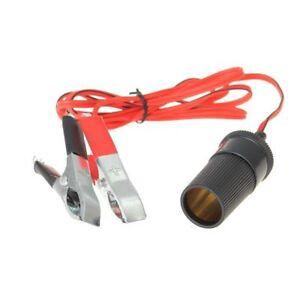 12V-Auto-KFZ-Batterieklemme-Clips-Steckdose-Zigarettenanzuender-Adapter