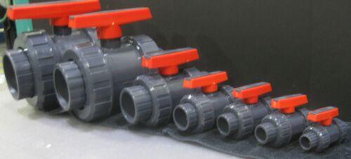 Nuevo SCH 80 PVC 4 pulgada válvula de bola de unión verdadera Gris FNPT conectar SCH 80 PVC
