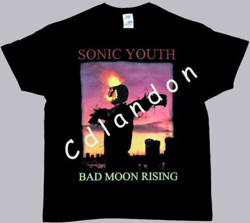 SONIC YOUTH BLACK T-SHIRT BAD MOON RISING