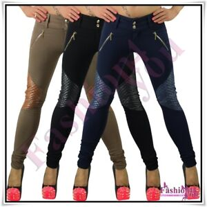 Sexy-Women-039-s-Skinny-Trousers-Ladies-Pants-Casual-Treggings-Size-8-10-12-14-16-UK