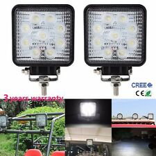 2pcs 5inch 27W LED CREE Work Light Square Driving Truck Boat SUV Lamp Flood Beam