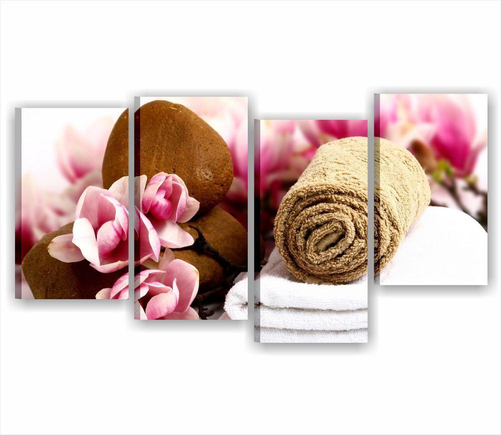 Zen fiori benessere 7 rahmen MODERNO 152x78 STAMPA TELA QUADRI ARrotO CASA SPA
