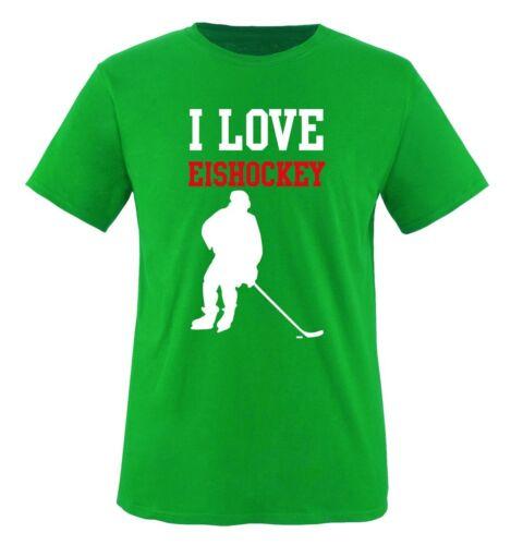 I LOVE EISHOCKEY Herren T-Shirt