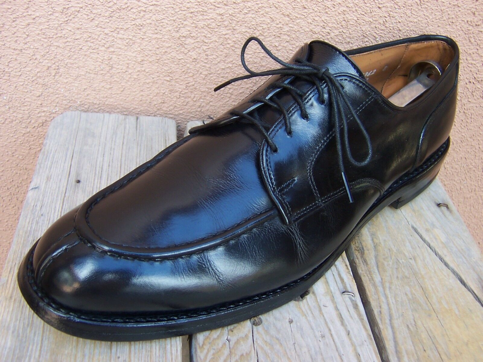ALLEN EDMONDS Mens Dress Shoes Black Leather Comfort Lace Up Oxford Size 11.5C