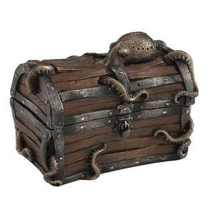 Image Is Loading Octopus Ed Treasure Chest Trinket Box Home Decor