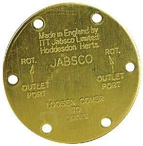 New Service Parts jabsco 11830-0000 End Cover Fits 11810 DC Pump Fits 2620-1101