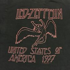Led Zeppelin Black Large T-shirt Classic Rock Music Swan Song Page Plant Blues