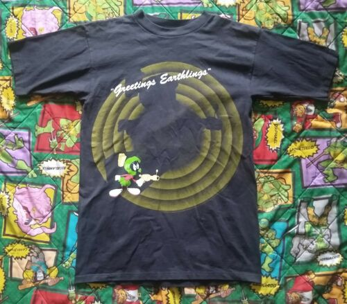 Vintage Marvin the Martian Black T-Shirt Youth XL