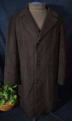 Rare Vintage 60s70s Charcoal Gray Wool NORWIND Over or Top Coat L?