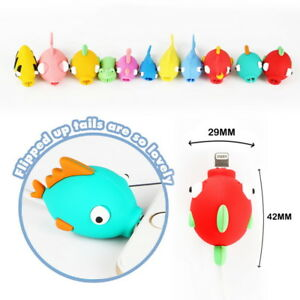 Saver-Cover-Protector-For-iPhone-Charger-Cable-USB-Cord-Animal-Fish-10-Styles