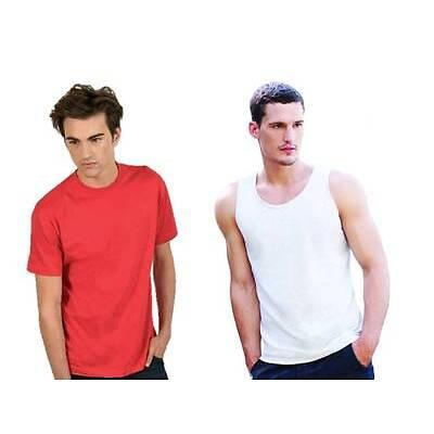 coppia t-shirt UOMO manica corta ROSSA + canotta UOMO BIANCA