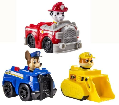 Marshall Chase Rubble NEW! Spin Master Nickelodeon PAW PATROL RACERS LOT OF 3