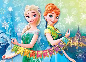 Anna Elsa Eiskonigin Frozen Geburtstag Einladungskarten Ohne