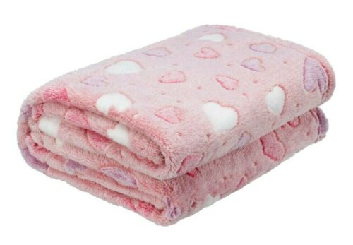 Ultra Soft Your Zone HEARTS Glow-in-the-Dark Plush Throw Blanket 50 in x 60 in