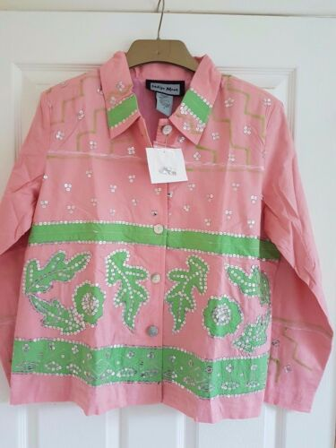 Tee Buste Rose 47 Paillettes Large Grand shirt Indigo Argent Moon Jacket zHzFPrq