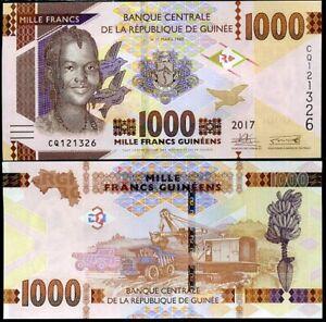 GUINEA-1000-1-000-FRANCS-2017-P-48-b-UNC-LOT-10-PCS