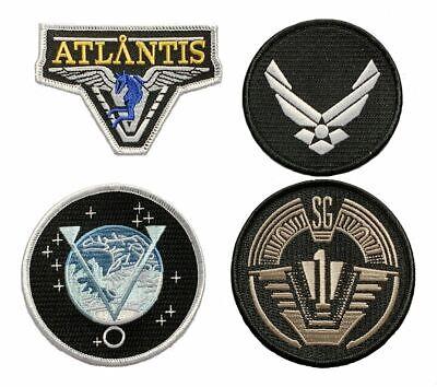 Miltacusa Stargate SG-1 Uniform//Costume 3.0 X 3.0 inch HOOK Patch Bundle 2pc