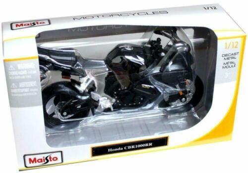 HONDA CBR 1000RR BLACK 1:12 DIECAST MOTORCYCLE MODEL BY MAISTO 31151