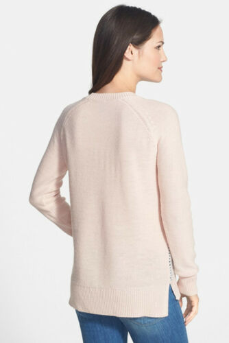 Not Your Daughters Jeans Embellished Pink Sequin Front Tunic Sweater XL