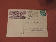 Antike Correspondenz-Karte aus dem Jahre 1934 vom Schloßrentamt Dresden