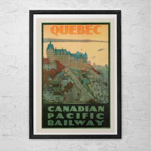Professional Reproduction Cana Quebec Travel Print QUEBEC CITY Travel Poster