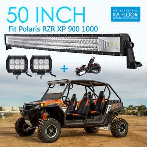 """28/"""" For RZR XP900 800 RZR4 Crew XP 1000 Ranger 800 UTV Roof LED LIGHT BAR"""