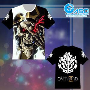 Summer Anime T shirt Overlord Ainz Ooal Gown otaku Unisex Short Casual Tee Tops