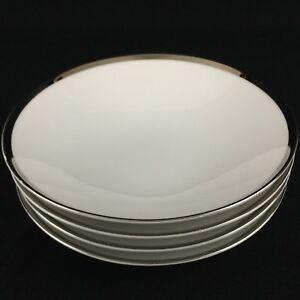 Set-of-4-VTG-Fruit-Bowls-5-5-8-034-by-Sango-Fine-China-Pallas-Platinum-Trim-Japan