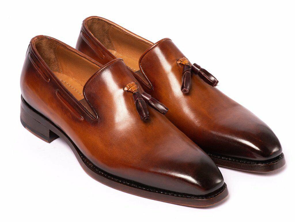 rivenditori online Paul Parkman Uomo Uomo Uomo Marrone Goodyear Welted Tassel Loafer scarpe 51TS-BRW  100% nuovo di zecca con qualità originale