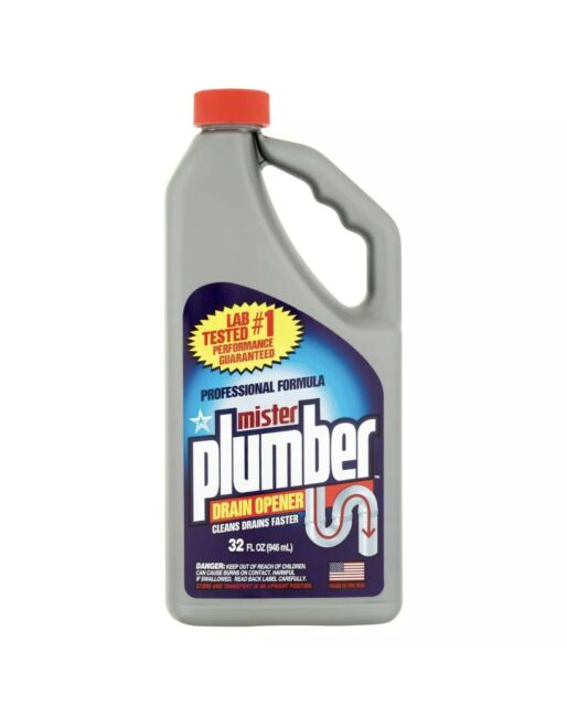 1 MISTER PLUMBER PROFESSIONAL FORMULA 32 OUNCE DRAIN OPENER CLEANS FAST 32oz