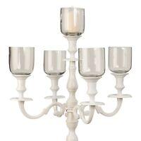 5 Stück Passende Glaseinsätze Höhe 8 Cm Für Unsere Kerzenständer 5-armig