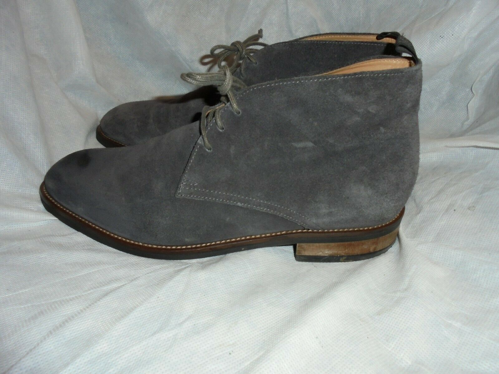 MARKS & SPENCER MEN GREY SUEDE LEATHER LACE UP ANKLE BOOT SIZE UK 9.5 EU 43.5