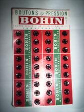 ANCIENNE PLAQUETTE BOUTON PRESSION BOHIN
