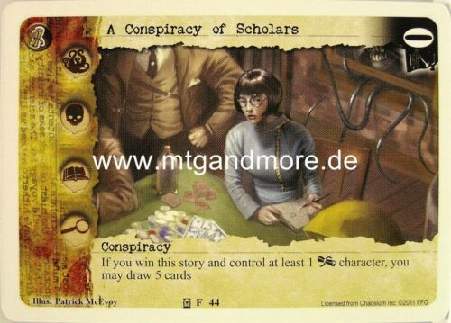 Call of Cthulhu LCG 1x A Conspiracy of Scholars  #044 Conspiracies of Chaos