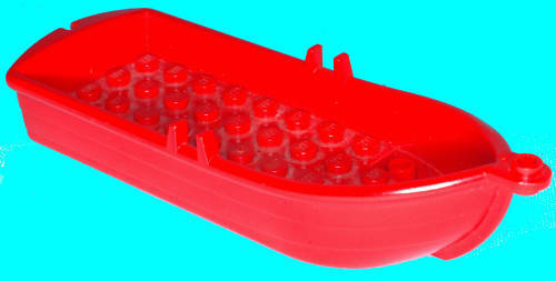 Missing Lego Brick 2551 Boat 5 x 14 x 2 Red
