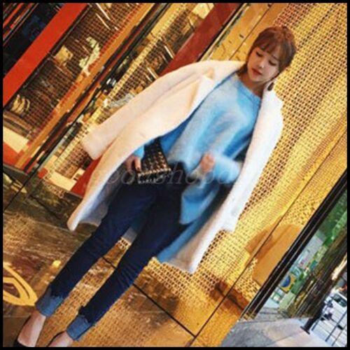 New Sweater Kvinder Løse Coat Winter Mink Pullover Tops Thicken Fur Jacket Mohair 7OxIZPOan
