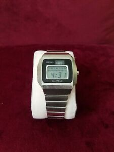 Rare-Vintage-Very-Early-1975-Seiko-Digital-Watch-0124-0019-LCD-works-perfectly