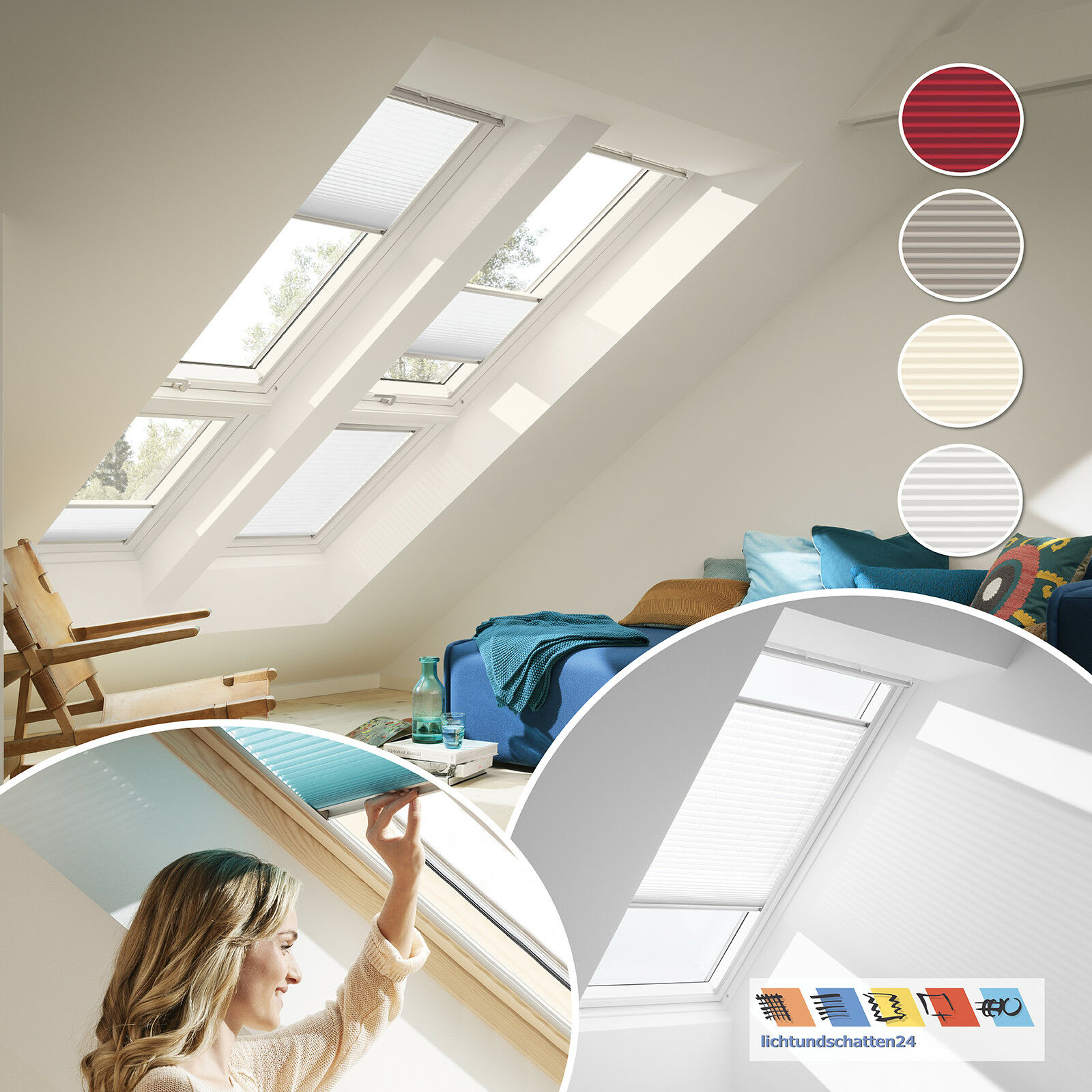 Original VELUX Plissee Faltrollo alle Größen für Dachfenster Dachfenster Dachfenster VL VU VKU | Heißer Verkauf  2ceade