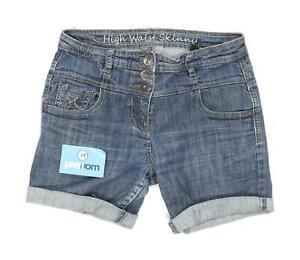 Womens-Next-Blue-Denim-Shorts-Size-10-L5