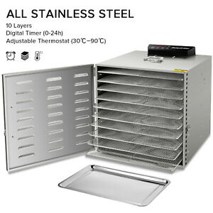 NEW-Commercial-10-Tray-Stainless-Steel-Food-Dehydrator-Fruit-Meat-Jerky-Dryer-US