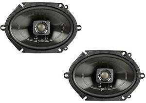 Polk-5x7-034-225W-2-Way-Car-Boat-Coaxial-Stereo-Audio-Speakers-Marine-DB572