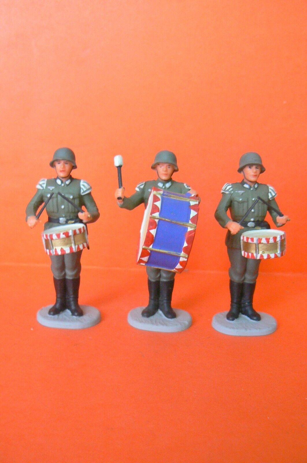 Elastolin/Esercito Tedesco: la musica: bel set di 3 musicisti nella fissaggio