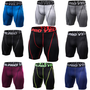 Men-039-s-Compression-Shorts-Skin-Fitness-Gym-Underwear-Sports-Short-Tights-Spandex
