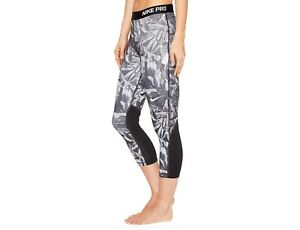 d3212396b029a BNWT Women's Nike Pro Dri-fit Cropped Leggings Black / Grey Sz S ...