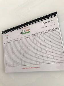time sheet login book 50 pages site venue security door supervisor