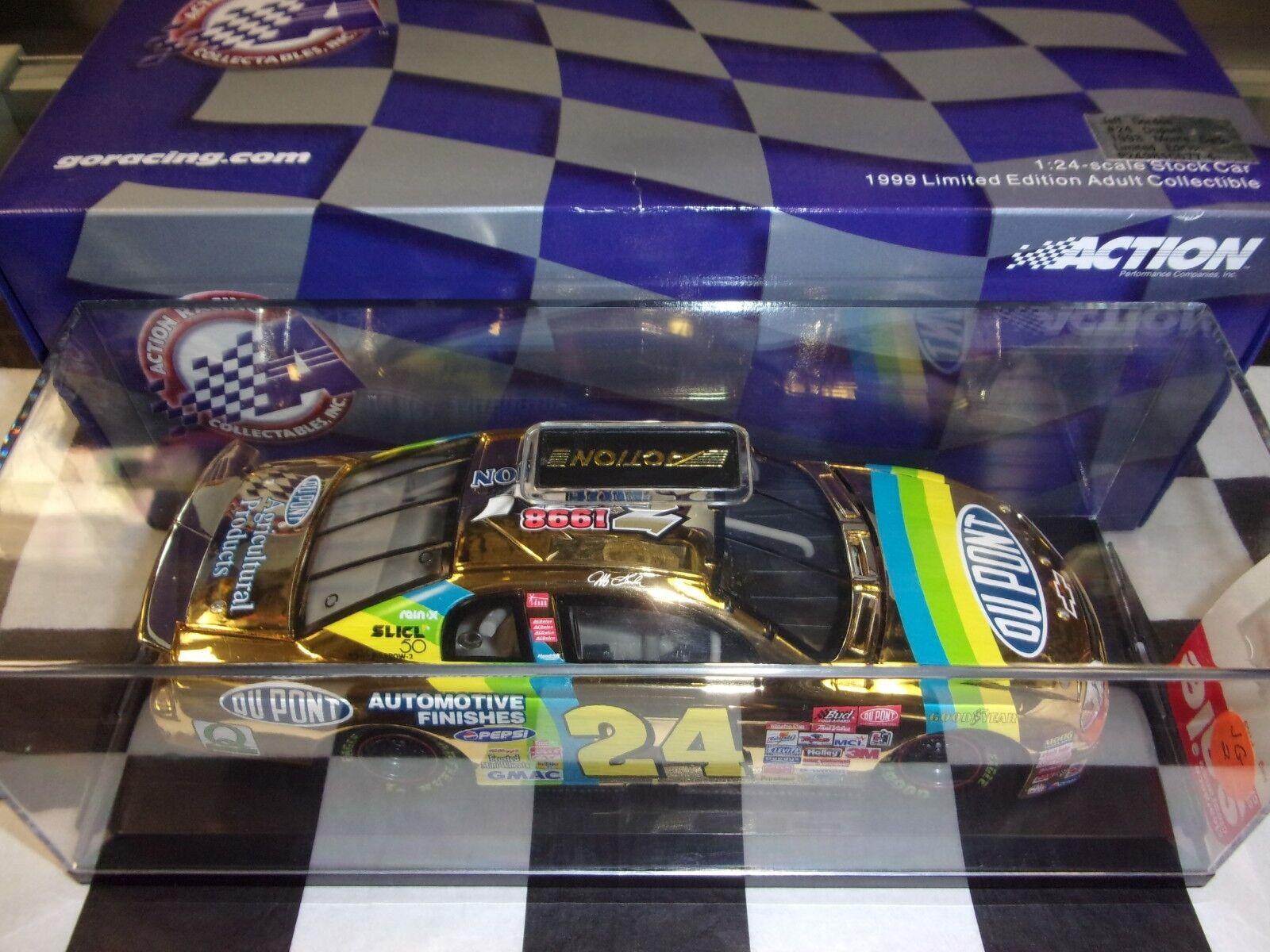 Jeff Gordon DuPont 3x Champ 24K gold 1999 Action NIB 1 24 scale Car NASCAR