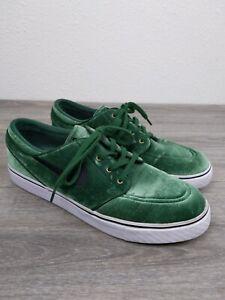 Nike-SB-Stefan-Janoski-Sneakers-Mens-Size-10-Shoes-Suede-Green-Black