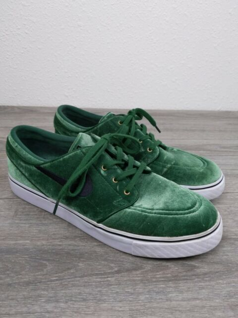 Nike SB Stefan Janoski Sneakers Mens Size 10 Shoes Suede Green Black