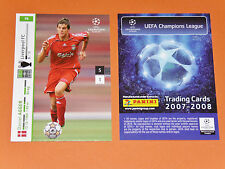 DANIEL AGGER LIVERPOOL REDS FOOTBALL CARDS PANINI CHAMPIONS LEAGUE 2007-2008